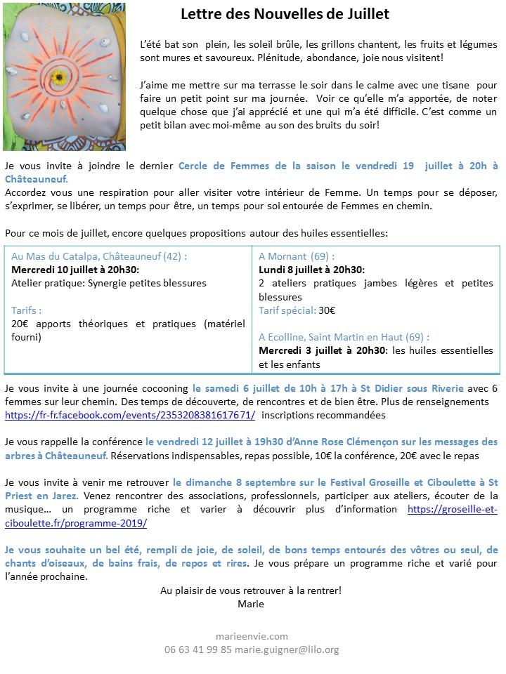 Lettres des Nouvelles de Juillet